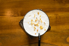 Top view of milk tea in glass Stock Photography
