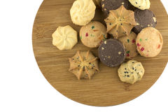 Top view of miscellaneous cookies Stock Photo