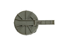 Top view of missile case cap. On a white background Royalty Free Stock Photo