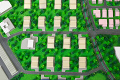 Top view model house structure Stock Images