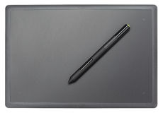Top view of modern graphic tablet Stock Image
