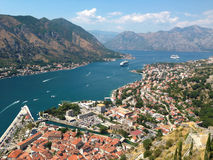 Top view on montenegro from the mountain kotor Stock Photography