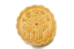 Top view of moon cake on white background isolated stock images