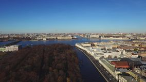 Top View On The Morning City St.-Petersburg stock video footage