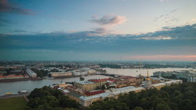 Top View On The Morning City Of St.-Petersburg stock video footage