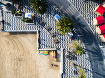 Top View of Mosaic and Beach, Cascais, Portugal Royalty Free Stock Photos