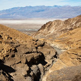 Top View of Mosaic Canyon in Death Valley Stock Photography