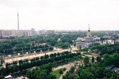 Top view of Moscow Stock Image