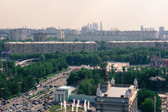 Top view of Moscow Stock Images