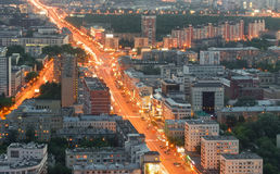 Top view of Moscow city skyline Royalty Free Stock Photography