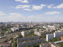 Top view of Moscow in the summer Royalty Free Stock Photos