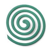 Top view of mosquito coil. Isolated on white Royalty Free Stock Photos