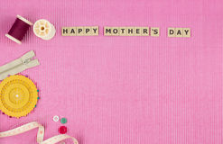 Top view of Mothers day background Stock Photo