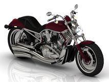 Top view. Motorcycle and chrome engine Royalty Free Stock Image