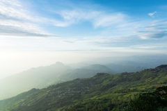 Top view on mountain. Beautiful sky and beautiful view from top of mountain in Thailand Royalty Free Stock Photos