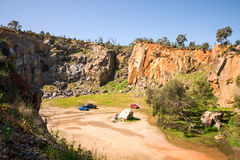 Top view on a Mountain Quarry site in Greenmount National park. Western Australia stock image