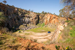 Top view on a Mountain Quarry site in Greenmount National park. Western Australia royalty free stock photos