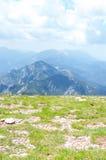 Top view of the mountain ridge Royalty Free Stock Photos