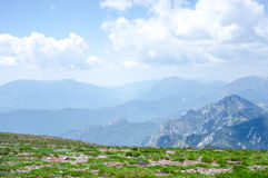 Top view of the mountain ridge Royalty Free Stock Photography