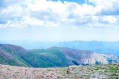 Top view of the mountain ridge Stock Photo