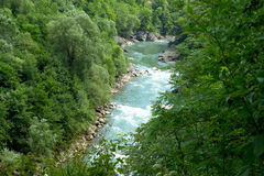 Top view of mountain river Royalty Free Stock Photo