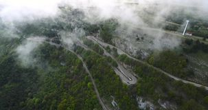 Top View Of The Mountain Road stock footage