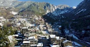 Top view of the mountain town of Andorra La Vella, Catalonia
