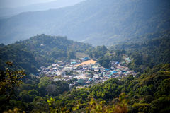 Top view of mountain village Royalty Free Stock Photography
