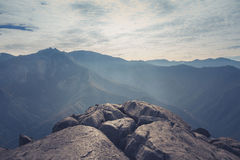 Top View of Mountains and White Skies Royalty Free Stock Photos