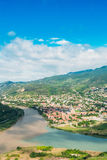 Top View Of Mtskheta Georgia At Confluence Of Rivers Mtkvari Aragvi Stock Images