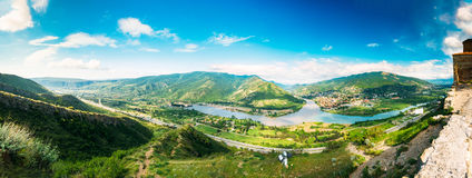 Top View Of Mtskheta Georgia At Confluence Of Rivers Mtkvari Aragvi Royalty Free Stock Photography