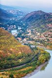 The Top View Of Mtskheta, Georgia, The Old Town Lies At The Confluence Of The Rivers Mtkvari And Aragvi Royalty Free Stock Images