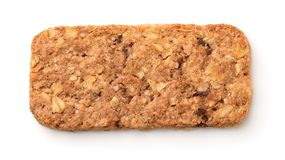 Top view of muesli cookie bar stock image