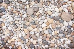 Top view multicolor pebble, rock or gravel pattern for background. Close up Top view multicolored pebble, rock or gravel pattern for background stock photo