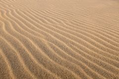 Top view of multiple sand waves. Stock Photo