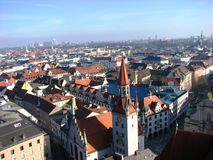 Top view of Munich, Germany Royalty Free Stock Image