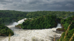 Top view of Murchison Falls in Uganda Stock Photography