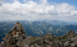 Top view from Musala Peak, Bulgaria. Stock Image