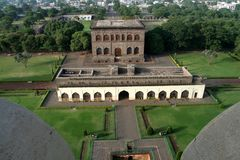 Top view of Museum. View of Museum from top of Gol Gumbaz, Bijapur, Karnataka, India, Asia Royalty Free Stock Images