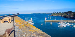 Top view of the Museum of La Palais the island of Belle Ile en M Stock Photography