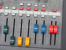 Top view of music mixer Royalty Free Stock Photos
