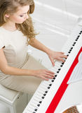 Top view of musician playing piano Stock Photography