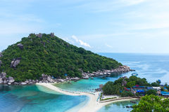 Top view Nangyuan Island in Thailand Stock Image