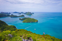 Top view national marine park Stock Images