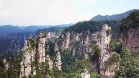Top view of natural quartz sandstone pillars Avatar Mountains