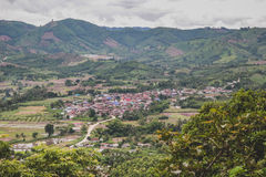 Top view of natural scene in Loei Royalty Free Stock Photo