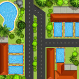 Top view of neighborhood Royalty Free Stock Images