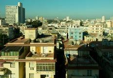 Top view of the neighborhood of Vedado of Havana Cuba stock photo