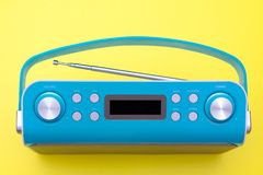 Top view on new digital blue radio royalty free stock photos