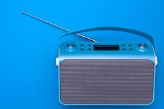 Top view on new digital blue radio Stock Photography